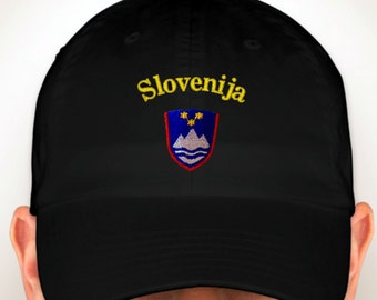 Slovenia Embroidered Hat