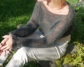 Cropped Sweater, Cropped Shrug, Loose Knit Mohair Shrug, Boho Fashion Cropped sweater Cropped shrug Fall sweater