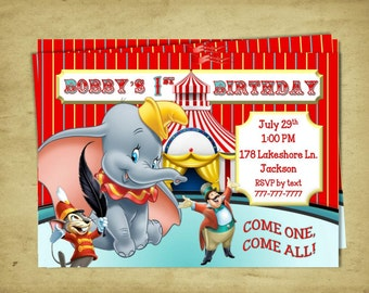 Dumbo 1st Birthday Etsy