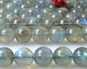 56 pcs of AAA Grade--Natural Labradorite smooth round beads in 7mm (2#)
