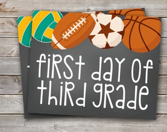 This is an image of Exceptional First Day of 3rd Grade Printable