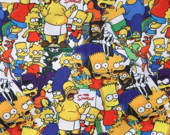 the simpsons family  fabric