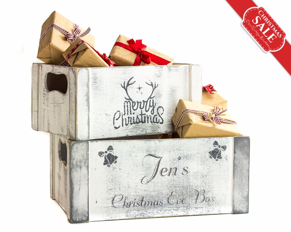 SET 2 Christmas Decorations Personalized Christmas Eve Box