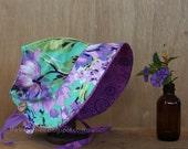 Bliss Bouquet Vintage Sweetheart Sun Bonnet, OOAK to suit approx 6mo-2 years