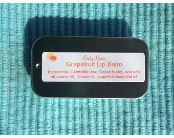 Grapefruit  Lip Balm, vegan lip balm, chapstick, kids gift, chapped lip relief