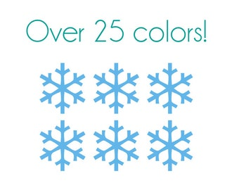 Snowflakes Nail Decals (Thin) - Vinyl, Custom Choice of Color