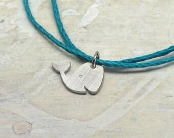 Friendship bracelet 925 silver Waltraut, Whale, Fish