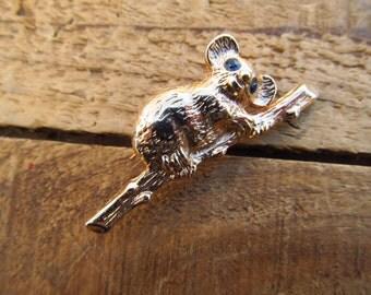 VintageGol Tone Koala Brooch - Koala Pin - Australia Souvenir Pin