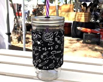 Mason Jar Tumbler, Personalized Tumbler, Mason Jar Classroom, Teacher Gift