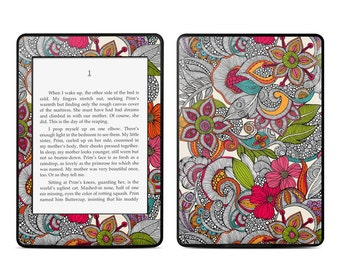 Amazon Kindle Skin - Doodles Color by Valentina Ramos - Sticker Decal - Fits Paperwhite, Fire, Voyage, Touch, Oasis