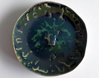 Plate - Steingzeug & glaze, pigments