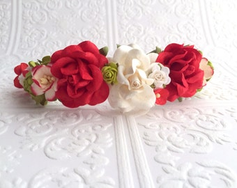 The Poinsettia Goddess Floral Crown