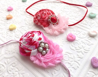 The Valentine Doll Headband or Hair Clip- Choose One