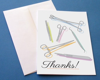 Surgical instruments thank you card