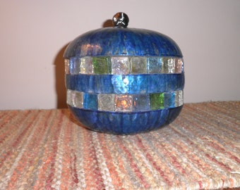 Handcrafted gourd candleholder