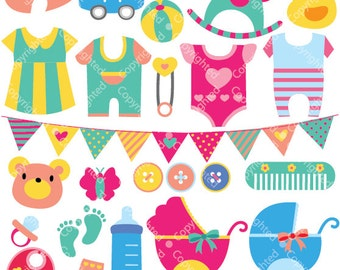 Baby Objects Digital Clip Art (ED) (Instant Download)