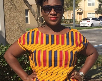 African Clothing, African Print Shirt. SALE!!!