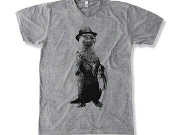 Funny Otter  graphic print  Men's T-Shirt