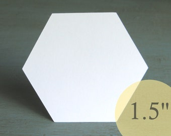 """Hive Paper Pieces - 1-1/2"""" HEXAGONS - English Paper Piecing Quilt Hexies - Choose Package Size"""