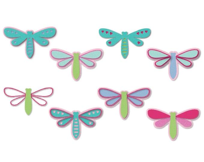 New! Sizzix Triplits Die Set 9PK - Dragonflies by Stephanie Barnard 660705