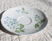 Vintage Saucer- FIne Bone CHina Shelly England, American Brooklime-For collectors, home decor or use in mosaic art
