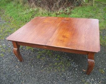 Massive Vintage Oak Coffee Table