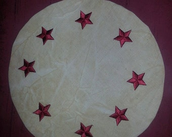 Patriotic Star Candle Mat