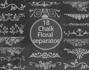Chalk Floral Separator