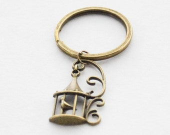 Bird cage Keychains, Bird Cage Key Ring, Gifts for Girlfriends, Gifts for Friends, Romantic Gift, Birdcage Jewelry, Bird Cage Jewellery