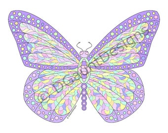 Butterfly Color Print for Download