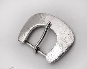 SaLe! sALe! Modernist Hammered Belt Buckle Sterling Silver