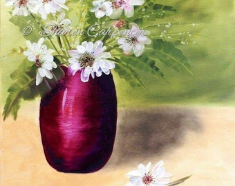 Giclee Gallery Wrap Canvas Floral Still Life