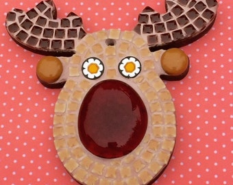 Fun Lily Mosaics D.I.Y. Mosaic Rudolph Kit for adults and children