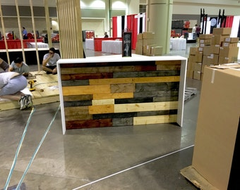 The Karla - Industrial pallet style sales counter or reception desk