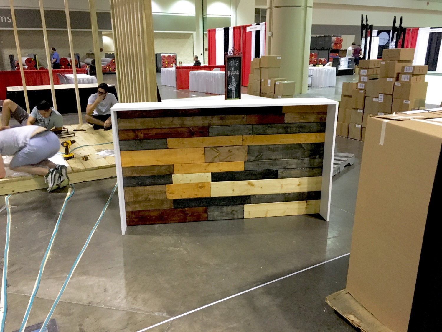The Karla Industrial Pallet Style Sales Counter Or Reception