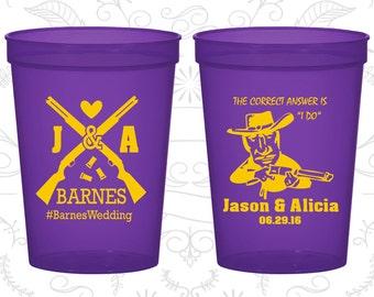 Shotgun Wedding Cups, Customized Stadium Cups, Country Wedding Cups, Redneck Wedding Cups, logo plastic cups (563)