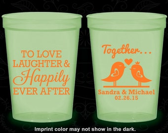 Love Laughter and Happily Ever After, Glow Stadium Cups, Love Birds, Glow-in-the-Dark (80)