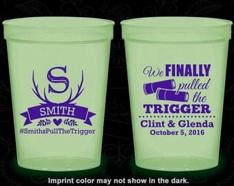 We finally pulled the trigger, Imprinted Nite Glow Cups, Shotgun Wedding, Antler, Glow in the Dark (564)