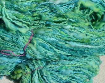 "Skein of yarn spun hand ""Emerald"""