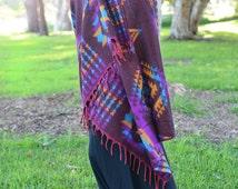 Reversible Two-Color Blanket, Super Soft Yak Wool Blanket, Lightweight Body Blanket, Handmade Shawl, Festival Wrap, Sofa Throw, Baby Blanket