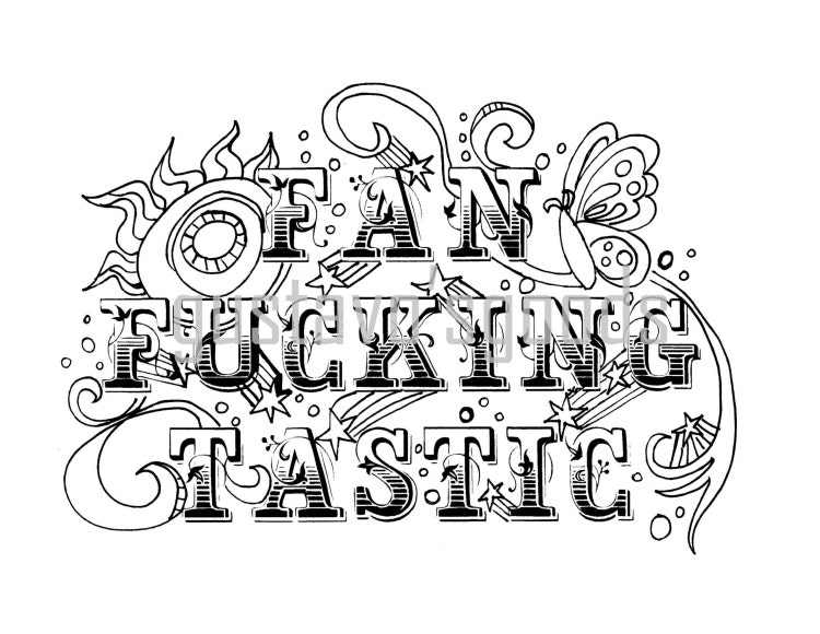 Swear Word Coloring Book Page Fanfckingtastic By Gustavosgoods