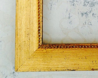Shabby Chic Vintage Gold Picture Frame - 4x4, 4x6, 5x7, 8x8, 8x10, 8.5x11, 11x14, 16x20 - Distressed Gold Photo Frame - Gold Wedding Frame
