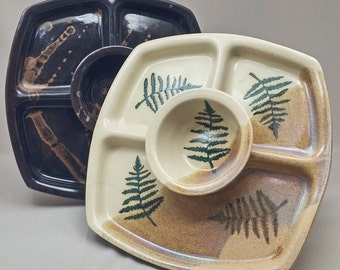 Three Section Dip Tray by Stegall's Pottery