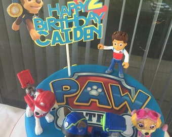 Paw Patrol Cake Topper,Paw Patrol Birthday Banner,Paw Patrol Birthday Cake Topper,Personalized Cake Topper, Paw Patrol Decorationsii