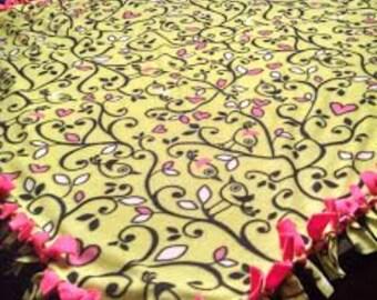 Fat Bird Fleece Tie Blanket