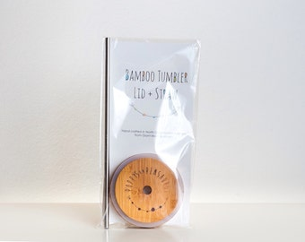 WIDE Bamboo Tumbler Lid (for wide mouth Ball Mason jar)