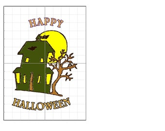 Haunted House Embroidery