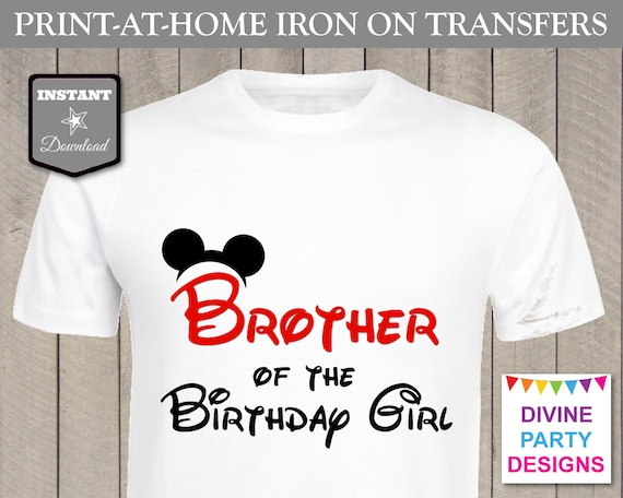 Instant download print at home red mouse brother of the for Instant t shirt printing