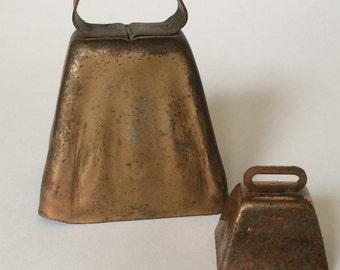 Vintage Copper Cow Bells