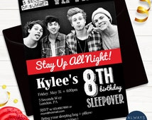 5 Seconds of Summer / 5SOS / Birthday Sleepover VIP Pass Invite - Printable - Digital File